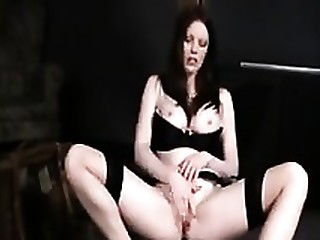 Brunette Juicy Masturbation MILF Nylon Solo Stocking