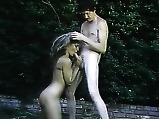 Blonde Blowjob MILF Outdoor Vintage