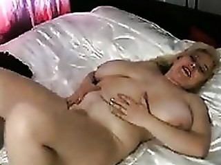 Blonde BBW Masturbation Mature Solo