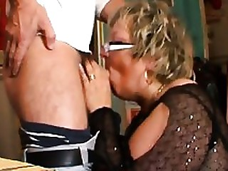 Blonde Blowjob Car Big Cock BBW Hardcore Mature
