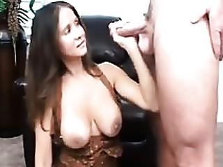 Brunette Handjob Jerking Mammy Masturbation MILF Teacher
