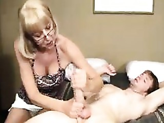 Blonde Big Cock Cum Granny Handjob Huge Cock Mature Teen