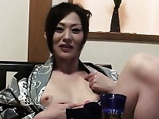 Erotic Hairy Japanese MILF POV Solo Uncensored