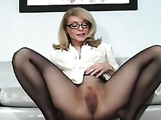 Babe Blonde Fetish MILF Nylon Panties Solo Wet