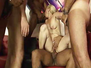 Blonde Blowjob Big Cock Cumshot Deepthroat Fuck Gang Bang Granny
