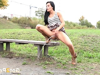 Brunette Fetish Little Mammy Outdoor Public Pussy Shaved