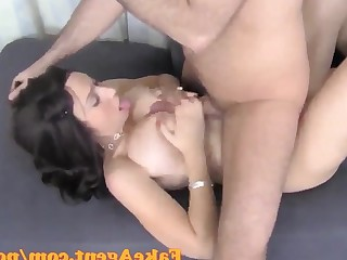 Casting Couch Cumshot Dolly Hot MILF Office Pornstar