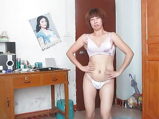 Chinese Dancing MILF Striptease
