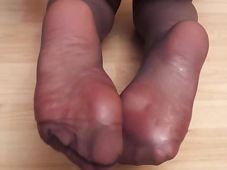 Feet Foot Fetish Mammy Massage MILF Nylon Oil Panties