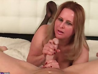 Big Tits Blonde Boobs Big Cock Handjob Huge Cock Mammy Mature