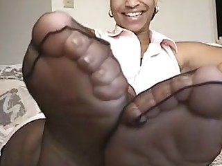 BDSM Black Ebony Feet Foot Fetish Mammy MILF Nylon
